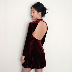 Brand new American Apparel Violette velvet dress
